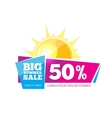 Emblem for big summer sales vector image vector image
