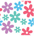 flower and daisy seamless background vector image vector image