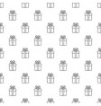 gift box pattern seamless vector image