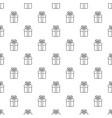 gift box pattern seamless vector image vector image