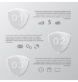 glass shield infographic vector image