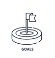 goals line icon concept goals linear vector image vector image