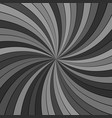 grey abstract hypnotic striped spiral vortex vector image vector image