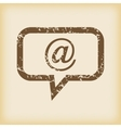 Grungy mail message icon vector image