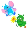 happy caterpillar vector image vector image