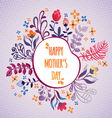 Happy Mothers Day Flowers pattern decorative vector image