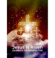 He is risen Easter religious poster
