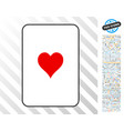 hearts suit card with bonus vector image vector image