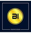 initial letter bi logo template design vector image vector image