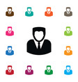isolated person icon man element can be vector image vector image