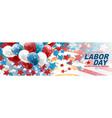 labor day banner or website header vector image vector image