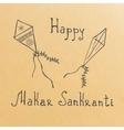 Makar Sankranti grunge rubber stamp on white vector image