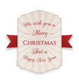 merry christmas banner isolated on white vector image vector image