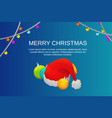 merry christmas party concept background vector image