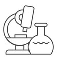 microscope thin line icon research vector image vector image