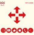 move icon symbol vector image vector image