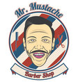 Mr Mustache vector image
