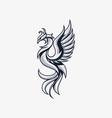 phoenix line template vector image