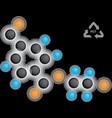 polyethylene terephthalate formula vector image