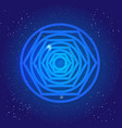 sacred geometry figure tunnel black hole in vector image vector image