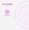sahahrara- crown chakra vector image vector image
