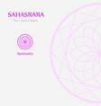 sahahrara- the crown chakra vector image vector image