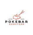salmon poke bar logo design inspiration vector image vector image