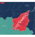 san marino country detailed editable map vector image vector image
