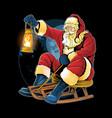 santa claus christmas skating on snow vector image vector image