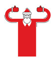 santa claus isolated granddad in red suit and vector image vector image