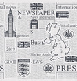 seamless pattern with unreadable london newspaper vector image