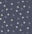 seamless snowflake pattern in dark blue vector image vector image
