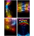 set abstract rainbow backgrounds vector image