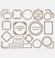 set assorted vintage frames vector image vector image