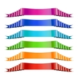 Set of Color Ribbons Stock vector image vector image