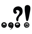 set of funny smiley punctuation vector image vector image