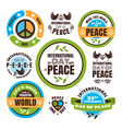 Set of labels for the International Day of Peace vector image vector image