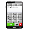 smartphone with sms on screen vector image
