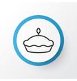 tart icon symbol premium quality isolated flan vector image