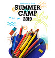 themed summer camp poster 2019 creative and vector image vector image