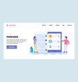 web site gradient design template mobile vector image