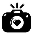 wedding photography icon simple style vector image vector image