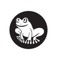 white frog vector image vector image