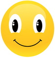 yellow smiley vector image vector image