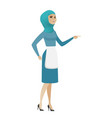 young muslim furious cleaner screaming vector image vector image