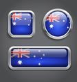 Australia flag buttons vector image