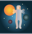 abstract astronaut in space vector image