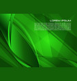 abstract background with spiral in green color vector image