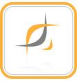 abstract internet icon Orange set vector image