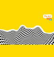 abstract op art yellow orange vector image